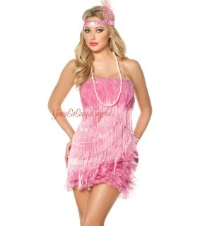 Fancy Burlesque Costume Feathers Fringe Fredericks of Hollywood
