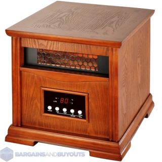 Deluxe Stealth 6 1200 1500 Square Foot Quartz Infrared Heater