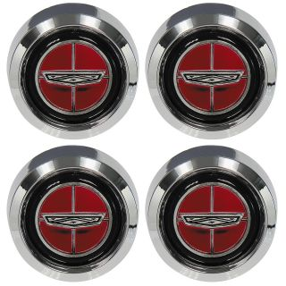 70 77 Ford Wheel Center Cap Set 4 Magnum 500 Torino Maverick 71 72 73