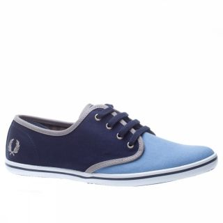 Fred Perry Koko Canvas Gingham Lini [5 Uk] Light Blue Blue Trainers
