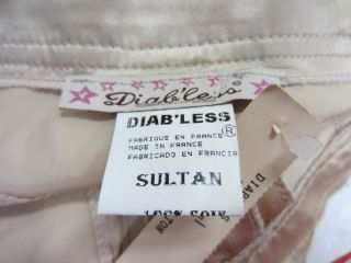 DiabLess by Fred Segal $158 Gold Sultan Ties Hem 100 Silk Party Pants