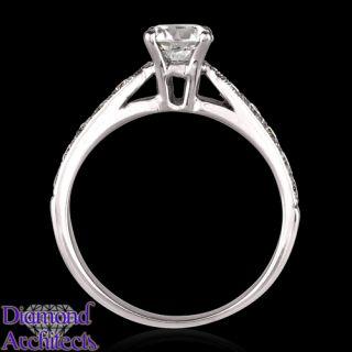 carat e diamond solitaire ring white gold 14k
