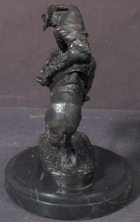Frederic Remington Bronze Sculpture Rattlesnake 10x7x7 Circa 1970S