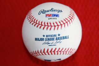 David Freese Autographed Rawlings Baseball St Louis Cardinals PSA