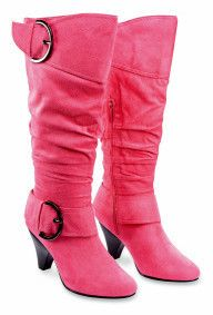 Women Buckle Mid Calf Tall Boots Fux Suede High Heel Fashion Big Size