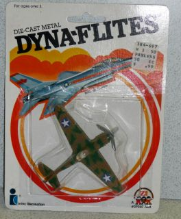 Zee Dyna Flites Die Cast Metal US Army P 40 Flying Tiger Mint in