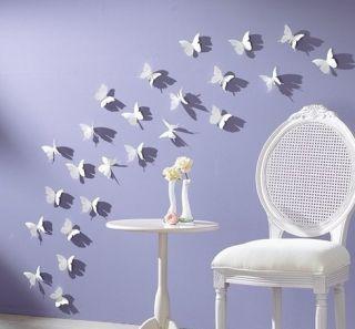 Butterflies Wall Sticker Cute Room Freedom Art Home Decor 5x5cm