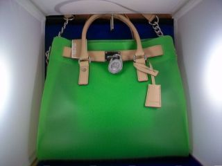 MICHAEL Michael Kors Large Jelly Hamilton Tote Bag NWT (Green)