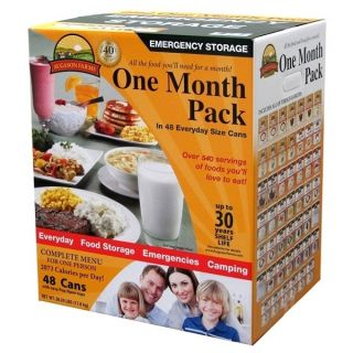 Freeze Dried Food Storage Survival Kit 30 day 1 person Dehydrated Food