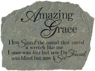 Carson Garden Stepping Stone Inspirational Hymns Amazing Grace How