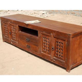 "79"" Screen Media TV Stand Center Storage Cabinet Drawers"