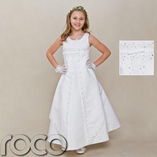Girls White Dress Girls First Holy Communion Dress Wedding Bridesmaid
