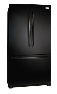 New Frigidaire 28 CU ft Black French Door Refrigerator FGHN2844LE