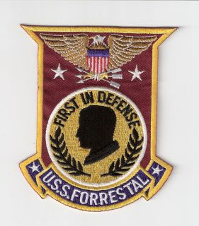 JACKET PATCH UNITED STATES NAVY  USS FORRESTAL