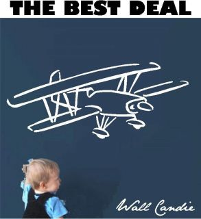 Giant Airplane Vinyl Wall Art Decal Sticker Decor