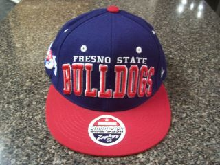 New ZEPHYR Snapback Hat FRESNO STATE BULLDOGS Two Tone Cap Navy Blue