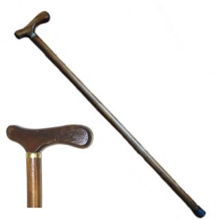 Fritz Handle Wooden Walking Stick Cane 35 inches Huangtang Hard Wood