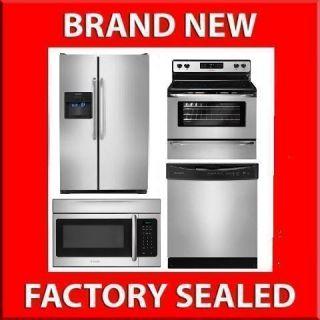 Frigidaire Refrigerator + Range + Dishwasher +Microwave