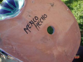 Talavera Ceramic Garden Frog Planter Mexican Fine Art Painting Pottery