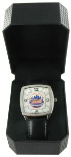 Game Time Watch Mens New York Mets Retro Black MLB Baseball
