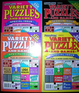 VARIETY PUZZLES and GAMES Logic Fill In Word Seek PENNY PRESS 2011
