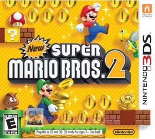 New Nintendo 3DS Games New Super Mario Bros. 2 US Ver Only work on US