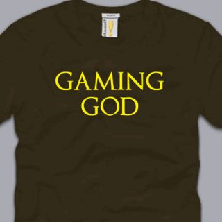 Gaming God T Shirt Funny Cool PS3 Xbox Nerd Cod BF3 Halo Geek s M L XL
