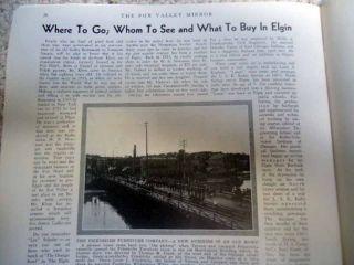 1935 Fox Valley Mirror Magazine Elgin Illinois Dundee Allen Pinkerton