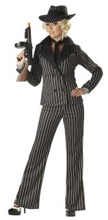 women sexy gangster lady adult costume women size available small 6 8