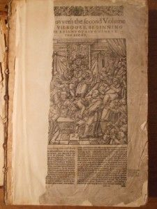 c1583/96 FOXE`S BOOK OF MARTYRS ENGLISH BLACK LETTER   ILLUS WITH