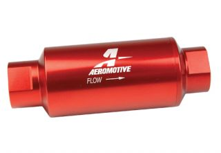 Aeromotive 12301 Fuel Filter Inline Red 10 Micron 10AN