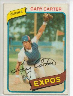 1980 Topps Baseball Gary Carter