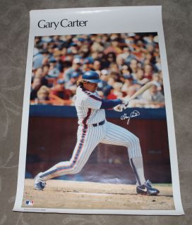Vintage Gary Carter Sports Illustrated Poster New York Mets Expos HOF
