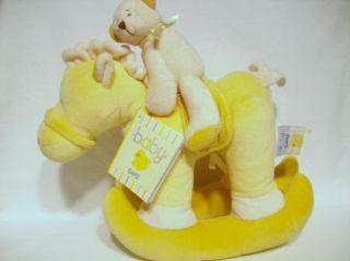 Baby GANZ Large 10 Plush Rocking Horse RATTLE Bear NWT