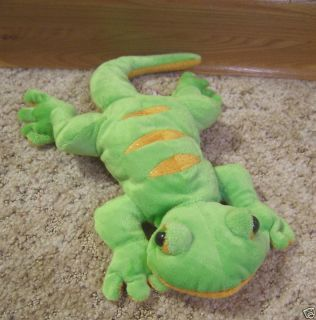 Green Gecko Plush Animal Toy Cute No Tag Webkinz NWOT 661371100500