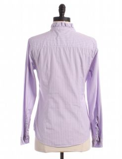 Gap Purple Pinstripe Button Up Sz s Top Blouse Shirt Striped