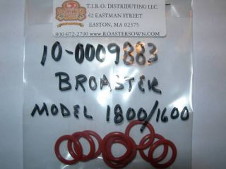 Fits Broaster Pressure Fryer 10 Filter O Rings Model 1600 1800 2400