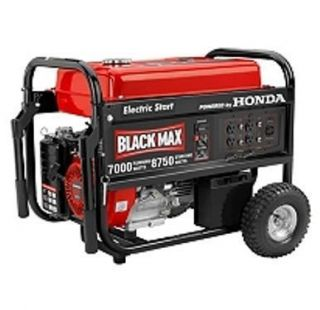 by max Portable Generator 8750 max watts propane natural gas tri fuel