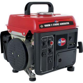All Power 1000 Watts Portable Gas Generator Gasoline New w
