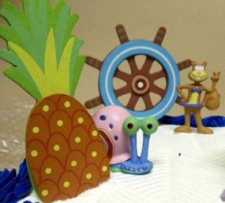 SquarePants Squidward, Patrick Sandy 23 Piece Birthday Cake Topper Set