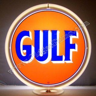 Gulf Gasoline Gas Pump Globe Free