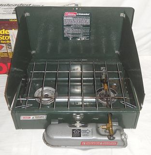Coleman Unleaded Gas 2 Burner Camp Cook Stove Model 424 700