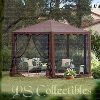 OUTDOOR GARDEN YARD GAZEBO CANOPY TENT SCREENING PATIO FURNITURE CAMP