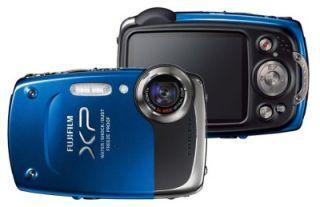 fuji finepix xp20 14 mp waterproof camera case blue