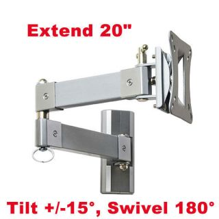 Full Motion Extend Flat LCD TV Monitor Wall Mount 15 17 19 20 22 24 26