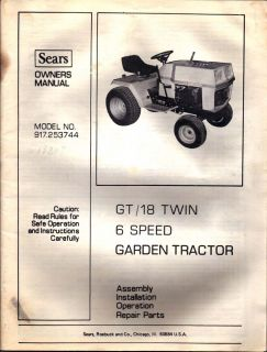 Craftsman GT 18 Garden Tractor Riding Lawn Mower
