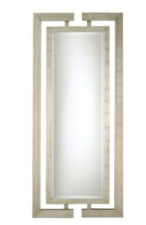 XL Modern Luxury Full Length Wall Mirror Silver Leaf Greek Key