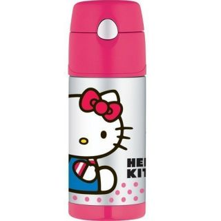 NWT Thermos Funtainer Drink Bottle, Hello Kitty Pink 12 ounce