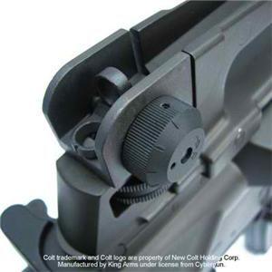Licensed King Arms Colt M4A1 Full Metal Black AEG Airsoft Rifle