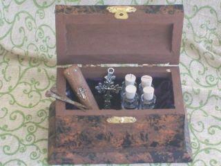 Miniature Kit Stake Cross Nails Garlic Oil Holy Water Bottles